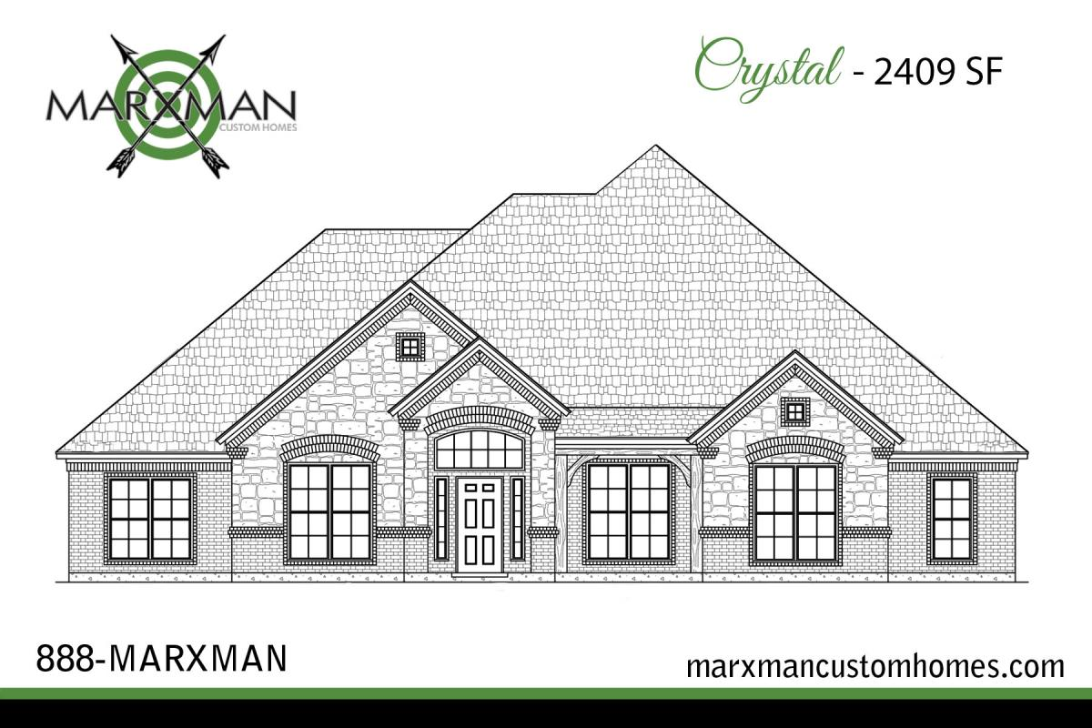 The Crystal Floor Plan on Custom Home Floor Plans