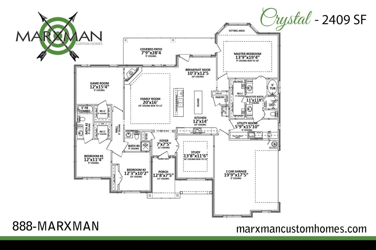 The Crystal Floor Plan – MARXMAN HOMES